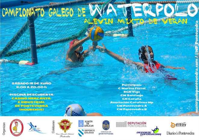 Cartel Cto Galego Alevin Verano Waterpolo 2016